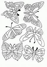 Butterfly Coloring Pages Butterflies Mosaic Printable Quilling Pm Embroidery Drawing Template Patterns Sheets Pattern Count Please Paper Phi Hand sketch template