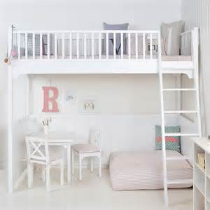 Diy Loft Bed With Closet Underneath by White Scandinavian Loft Bed By Nubie Modern Kids Boutique