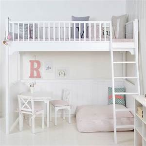 Hochbett 120x200 : white scandinavian loft bed by nubie modern kids boutique ~ Pilothousefishingboats.com Haus und Dekorationen