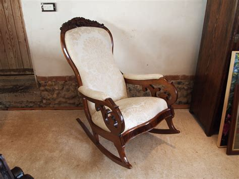 Chair Rocking Chair Early Victorian Mahogany Armchair