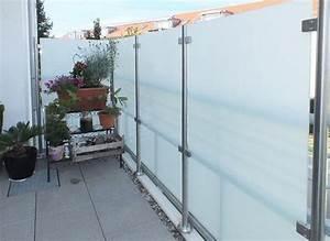 Windschutz Aus Glas : sichtschutz und windschutz aus glas ~ Watch28wear.com Haus und Dekorationen