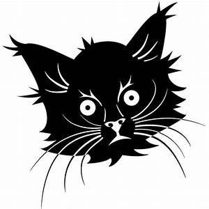 Black Kitty Cat Face Clipart | Black Cat Love 8 | Pinterest