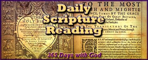 daily scripture reading  crucified life ministries