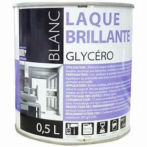 peinture laque glycero batir 1er boite 05 l brillant With peinture blanc laque brillant