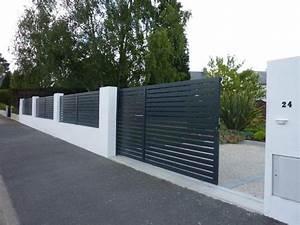 les 25 meilleures idees de la categorie portail sur With amenagement exterieur jardin moderne 5 brise vue aluminium moderne jardin angers par