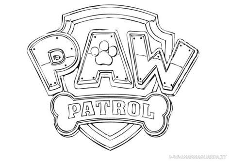 Kleurplaat Paw Patrol Logo by Paw Patrol Logo Coloring Page Coloring Pages