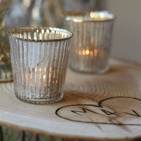what is a tea light ribbed mercury glass tea light holder by the wedding of my
