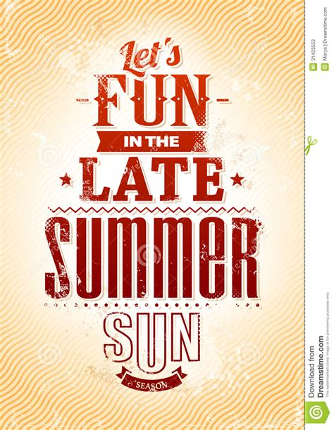 summer typography stock vector image of font advertise 31423553