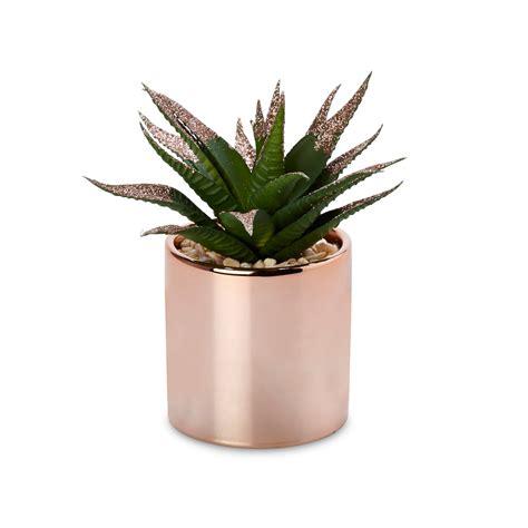 rose gold pot  faux plant departments diy  bq