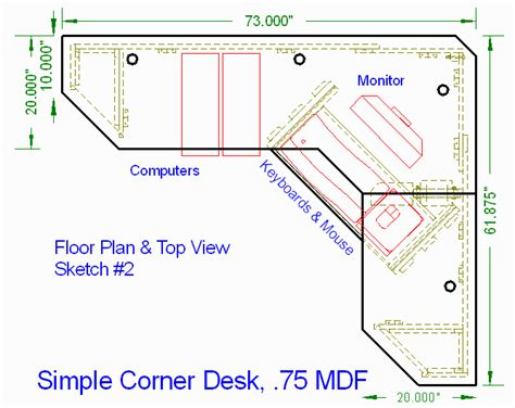 corner desk design plans woodworking plans corner desk
