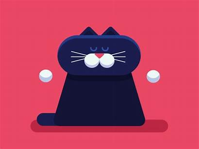 Yoga Cat Animation 2d Dribbble Vector Relax