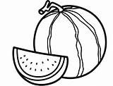 Watermelon Coloring Printable Template sketch template