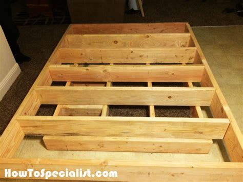 diy queen size floating bed howtospecialist