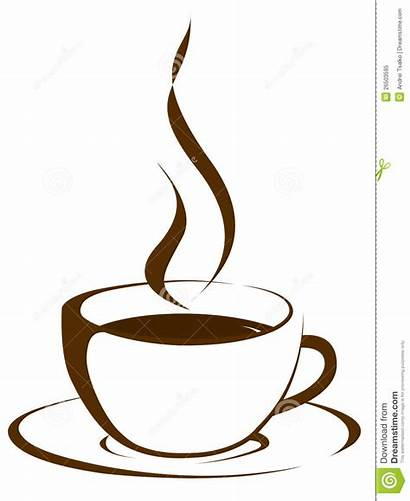 Coffee Cup Clipart Steam Tea Outline Royalty