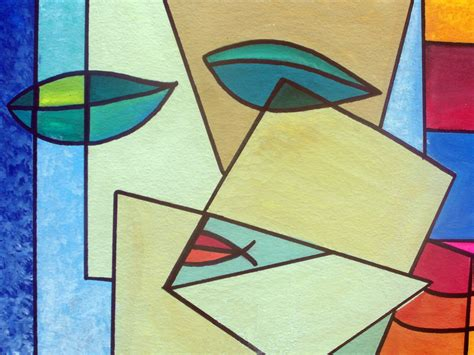 Abstract Painting Using Shapes by Abstract Shape Painting At Paintingvalley Explore