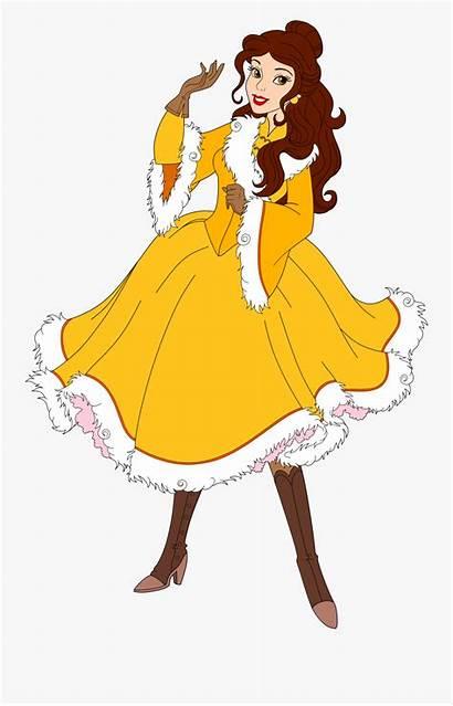 Disney Winter Princess Belle Warrior Clipart Clipartkey