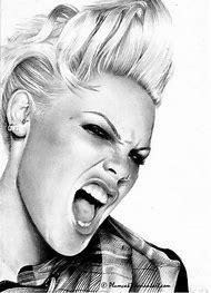 Pink Singer Drawings