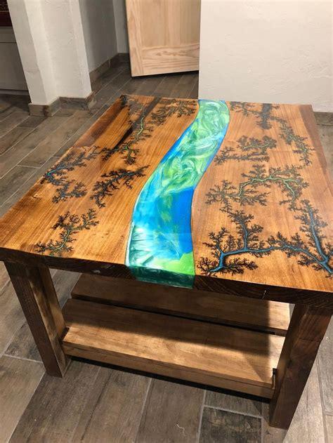 fractal burn river coffee table diy resin table resin