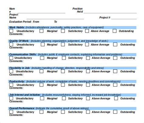 Employee Performance Tracking Template by Employee Tracking Template 10 Free Word Excel Pdf