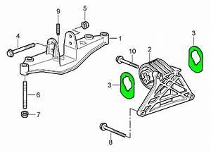 Porsche 987 Boxster Cayman Engine Mount Stop 9a137525701