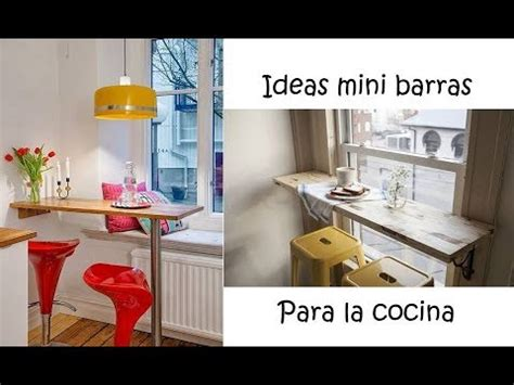 ideas mini barras  la cocina youtube