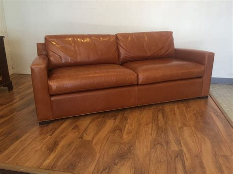 Baker Leather Sofa by Sold Baker Furniture Coach Leather Sofa Modern To