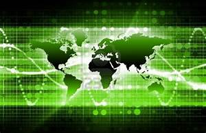 Information Technology Green Background