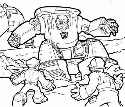 Rescue Bots Coloring Transformers Chase Pages Bot