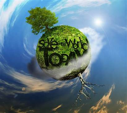 Save Earth Planet Word 3d