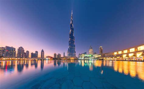 Wallpaper Uae, Dubai, Burj Khalifa, City, Water