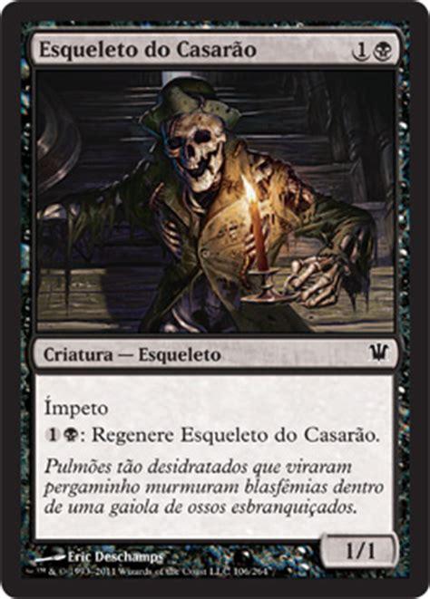 Mtg Black Skeleton Deck by Magic Pe 227 O S 227 O Paulo Cartas Pretas De Innistrad Para