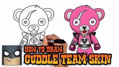 Fortnite Team Draw Cuddle Leader Drawing Tutorial