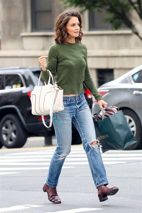 katie holmes  shopping  zac posen   york city