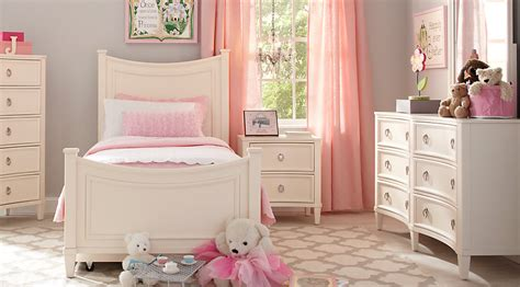 Jaclyn Place Ivory 4 Pc Twin Bedroom