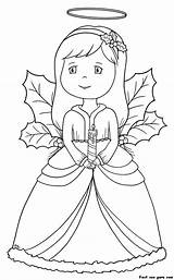 Coloring Angel Pages Simple Christmas Basic Clipart Ages sketch template