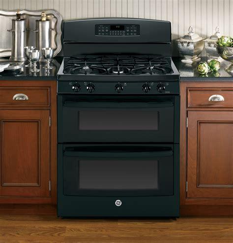 jgbdefbb ge   standing gas double oven range black