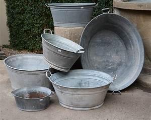 Vintage, Galvanized, Oval, Wash, Tubs