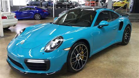 miami blue porsche turbo s porsche 911 991 2 580 hp turbo s miami blue youtube