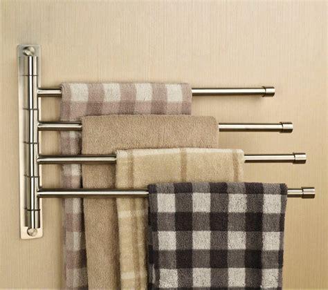 towel bars wall mounted single multiple  swing
