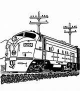 Train Coloring Diesel Engine Streamlined Railroad Drawing Steam Pages Template Getdrawings Sketch Colorluna sketch template