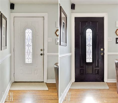 interior doors painted a dramatic glossy black so maybe