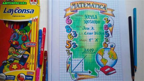 como dibujar caratula de matematica cover
