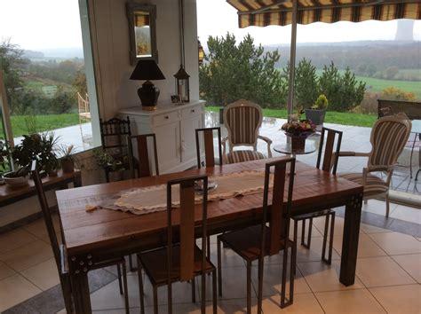 table cuisine style industriel cuisine design industriel