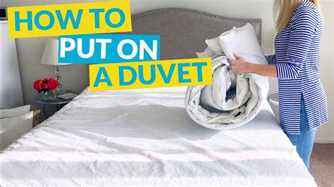 What Do You Put In A Duvet by How To Put On A Duvet Cover