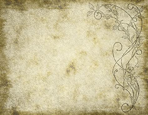 parchment walls and worn parchment paper and