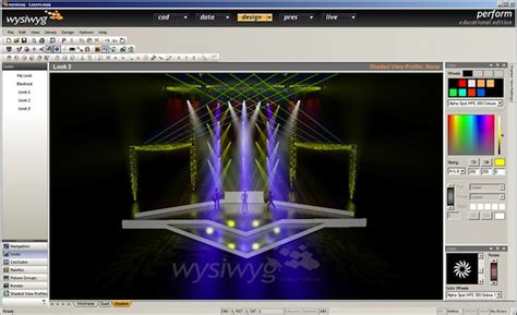 stage lighting simulator free cast releases academic version of lighting software