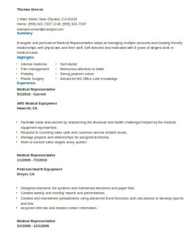 medical resume format sample  examples  word