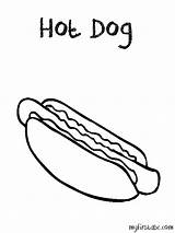 Dog Coloring Pages Drawing Colouring Cliparts Hotdog Getcolorings Popular Radiokotha sketch template