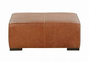 Miles Leather Cocktail Ottomans Ottomans Benches