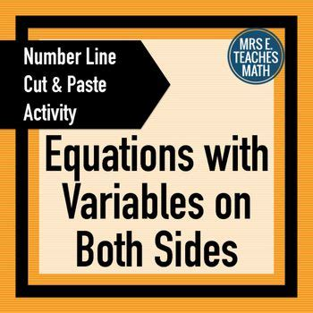 equations with variables on both sides cut and paste